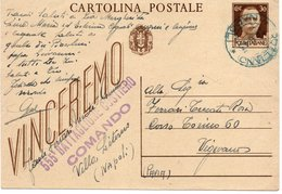 """CT-03452- CARTOLIN AMILITARE """" VINCEREMO """" 555 BATTAGLIONE COSTIERO COMANDO-DA VILLA LITERNO A VIGEVANO - War 1939-45"""