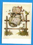 NY685, Enfants, Foulard, Oiseau, Coeur, Illustrateur Hümmel, 5861, GF, Circulée - Tarjetas De Fantasía