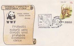 WWF  PANDA   BEAR COVER PANDA, Felinas, Linx Linx .  WWF Protect NATURE  1998 ROMANIA , - Andere