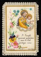 """En L'état Image Religieuse """"St-Joseph Puissant Protecteur Dans Le Ciel..."""" ° Bonamy Pl 174  ** Pieuse Saint 86 Poitiers - Images Religieuses"""
