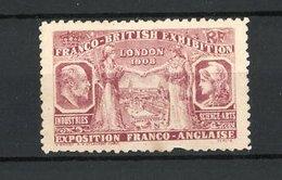Reklamemarke London, Exposition Franco-Anglaise 1908, Portraits Und Göttinnen Am Ortsrand - Erinnofilia