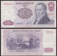 Chile - 100 Escudos Banknote 1983 Pick 152b F (4)   (12828 - Banknoten