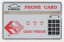 CAP VERT REF MV CARDS CPV-01a 20 U CN 110G Année 1991 6000 Ex  MINT RARE - Kaapverdische Eilanden