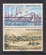 SAN MARINO  1973 NEW YORK 1673 E 1973 SASS. 876-877 MNH XF - Nuovi