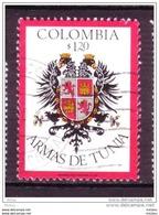 ##15, Colombie, Colombia, Armoiries, Coat Of Arms, Aigle, Lion, Félin, Rapace - Colombie