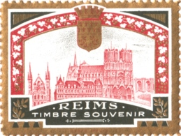 """Vignette """"REIMS Timbre Souvenir"""" - Probablement éditée Pour La Grande Semaine D'Aviation De La Champagne De 1909 - Avions"""