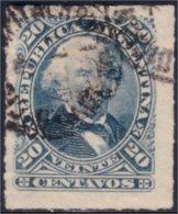 144 Argentina 20c Bleu Blue 1878 Roulette (ARG-15) - Argentine