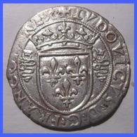 """FRANCE LOUIS XII GROS ROYAL Dit """"BISSONE"""" Frappé à Milan 1499-1512 TTB - 987-1789 Monnaies Royales"""