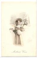 K 1885 OLD (1908)    FANTASY  POSTCARD  , CHILDREN  , FINE ART ,  MEILLEURS VOEUX - Sin Clasificación
