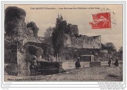 85) TALMONT(Vendée)  Les Ruines Du Château (côté Est) - (animée) - Talmont Saint Hilaire