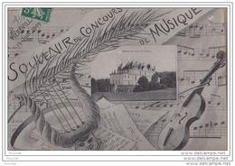 91 - MEREVILLE - SOUVENIR DU CONCOURS DE MUSIQUE - 13  Juin 1909 - Mereville
