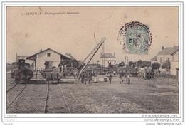 28) SAINVILLE (Eure Et Loir)   Déchargement De Betteraves  - (gare - Belle Animation) - Frankreich