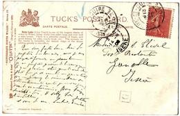 RHONE CP 1906 CALUIRE ET CUIRE T84 + BOITE URBAINE G - Marcophilie (Lettres)