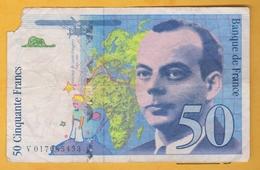 France - Billet De 50 Francs Type Antoine De Saint-Exupéry - 1994 - 1992-2000 Aktuelle Serie