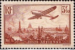Timbre De France Poste Aérienne N°13 Survol De Paris Neuf** - 1927-1959 Mint/hinged