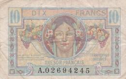France - Billet De 10 Francs -  Trésor Français - Territoires Occupés - Trésor