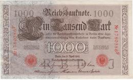 Allemagne - Billet De 1000 Mark - 21 Avril 1910 - Rouge - [ 2] 1871-1918 : German Empire