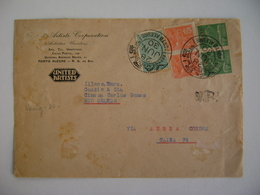 BRAZIL / BRASIL - VARIG LETTER SENT FROM PORTO ALEGRE TO RIO GRANDE (2 STAMPS V-2) ON JUNE 28, 1930 IN THE STATE - Brésil