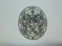 Ex-libris Héraldique Belge XVIIIème - DR H. J. REGA  (Louvain) - Ex Libris