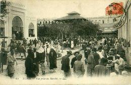 Cpa TUNIS - Vue Prise Au Marché - LL 44 - Tunisie