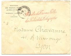 RRR TENTATIVE PNEUMATIQUE LYON RHONE 1911 CONTRESEING TELEGRAPHES + LAC TENTATIVE POSTE PNEUMATIQUE LYON. FACTEUR TELEGR - Documents Historiques