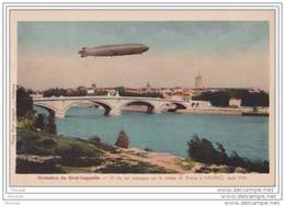 26) Drôme : Croisiere Du Graf  - Zeppelin - Un De Ses Passages Sur La Vallée Du Rhône à Valence, Aout 1934 - Valence
