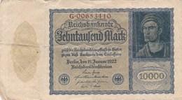 Allemagne - Billet De 10000 Mark - 19 Janvier 1922 - 10000 Mark