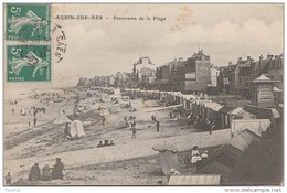 K5- 14) SAINT AUBIN SUR MER  (CALVADOS)  PANORAMA DE LA PLAGE - Saint Aubin