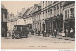 OP31- 62) FREVENT (PAS DE CALAIS) RUE D'HESDIN   - (TRÉS  ANIMEE - AUTOBUS -  2 SCANS) - France
