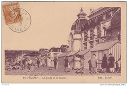 PA20- 76 FECAMP -  LA PLAGE ET LE CASINO  - (ANIMEE) - Fécamp