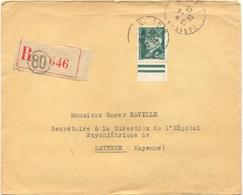 LR PARIS 80 R. DUPIN TàD  Du 28-4-43 - PÉTAIN 4 F.50 Vert Foncé YT 523 - Marcophilie (Lettres)