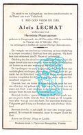 DP Aloïs Lechat ° Langemark 1870 † Veurne 1941 X Herminie Meerseman (° Staden 1872) - Images Religieuses