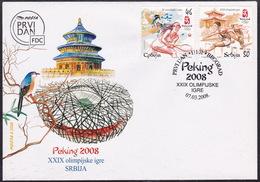 Serbia, 2008, Beijing, FDC - Ete 2008: Pékin