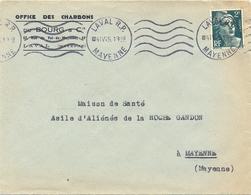 OFFICE DES CHARBONS DU BOURG & Cie LAVAL MAYENNE OMec KRAG 4 IV 45 - MARIANNE GANDON 2 F. Vert YT 713 - 1921-1960: Periodo Moderno