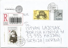 Slovakia 31.12.2009. International Cover With Mixed Franking EUR Sk - Slowakische Republik