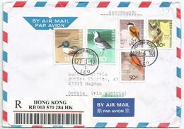 Hong Kong 2010. AIR MAIL Cover With Bird Stamps Birds - Cartas