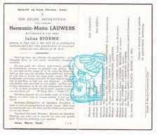 DP Hermania Lauwers ° Ieper 1879 † 1945x Storme / Woutlé Vaneenaeme Pahin Janseghers Bruneel Gruwier Rodric Plevoets Bal - Images Religieuses