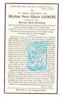 DP Henri Alb. Lauwers ° Meulebeke 1873 † 1942 X M. Decavele - Images Religieuses