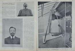 Une Nouvelle Invention De M. Bertillon, Chef Du Service Anthropométrique - Deux Pages Originaux 1907 - Documents Historiques
