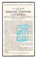 DP Eugenie Lauwers ° Langemark 1858 † 1949 X Alois Moerman - Images Religieuses