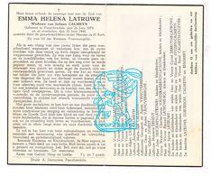 DP Emma H. Latruwe ° Passendale 1874 † 1945 X Jul. Calmeyn / Markey Deneut Descamps Bol Debruyne Nyssen Remmery Ollevier - Images Religieuses