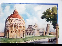 PISA DUOMO E TORRE ILLUSTRATA  FRATTINI  VB1955 HN6951 - Pisa