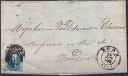 N° 11A Sur Lettre De BOOM Vers Arendonck Via Turnhout - 1858-1862 Medallions (9/12)