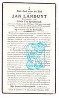 DP Jan Landuyt ° Oedelem Beernem 1866 † 1943 X Silvie Van Speybrouck - Images Religieuses