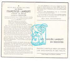 DP Franciscus Landuyt ° Oedelem 1878 † 1946 X Eugenia Decoster / G. Gezelle - Images Religieuses