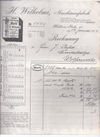 Dok II- -022   Geschäftsbrief  Wilhelmy Masch Fabr. Mühlheim Ruhr Nach Wolfersweiler  Aus 1904 - Deutschland
