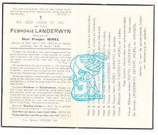 DP Febronie Landerwyn ° Ieper 1862 † 1948 X Morel / Baratto Maerten Ghys Vermeersch Knockaert Carpentier Pottel DePaepe - Images Religieuses