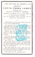 DP Lucia Emma Lampe ° Kortrijk 1889 † 1949 X Alfred H. Desmetz - Images Religieuses