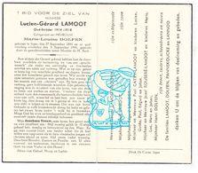 DP Lucien G. Lamoot ° Ieper 1891 † 1945 X ML. Dolfen Dolphen / Catry Rouseré Pannecoucke Lannoo - Images Religieuses