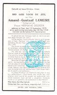 DP Amand G. Lameire ° Ieper 1875 † 1945 X Hermanie Decroix - Images Religieuses